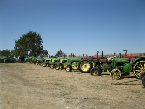 a few of the many restored tractors